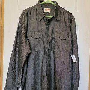 Men's black denim Wrangler shirt